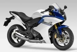 Honda 600F 2013 white blue stickers set
