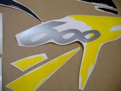 Honda CBR 600 F3 1997 yellow adhesives set