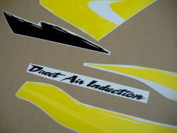 Honda cbr 600 f3 1997 yellow graphics kit