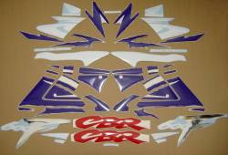Honda 600 F3 1997 white restoration decals
