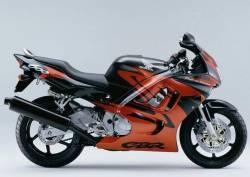 Honda 600f f3 1998 1997 orange reproduction graphics