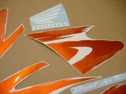Honda 600 F3 1998 orange complete sticker kit