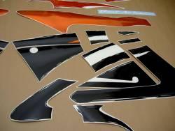 Honda 600f f3 1998 1997 orange black decals kit