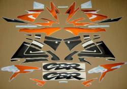 Honda 600f f3 1998 1997 orange black decals set