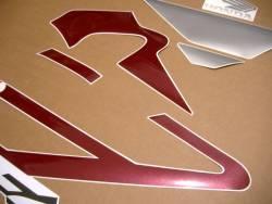 Honda 600 F4i 2005 burgundy logo graphics