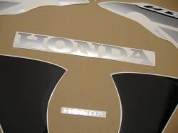 Honda 125R 2009 black reproduction stickers