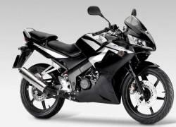 Honda CBR 125R 2009 black adhesives set
