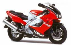 Yamaha YZF-1000R 1997 red stickers set