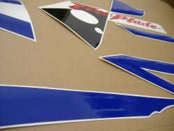 Honda 954RR 2003 Fireblade blue full decals kit