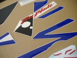 Honda CBR 954RR 2003 Fireblade blue decal set