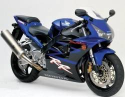 Honda CBR 954RR 2003 SC50 blue stickers