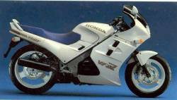 Honda 750F 1987 Interceptor white decals