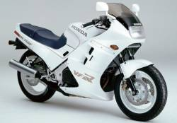 Honda VFR 750F 1987 white labels graphics