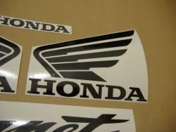Honda 2002 Hornet white logo emblems set