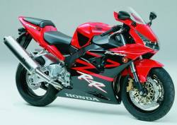 Honda CBR 954RR 2003 SC50 red decals kit
