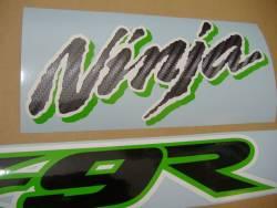 Kawasaki ZX 9R 2002 Ninja blue logo graphics