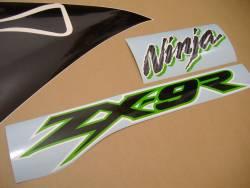 Kawasaki ZX 9R 2002 silver stickers kit
