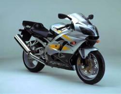 Kawasaki ZX 9R 2002 silver full decals kit