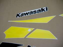 Kawasaki ZX9R 2002 Ninja silver stickers