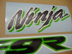 Kawasaki ZX 9R 2002 Ninja green logo graphics