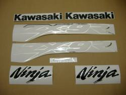 Kawasaki ZX9R 2003 Ninja grey decals kit