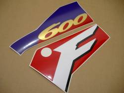 Honda CBR 600F F3 1996 red reproduction stickers