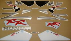 Honda 954RR 2002 Fireblade SC50 silver decal set