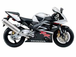 Honda CBR 954RR 2002 SC50 silver decals kit