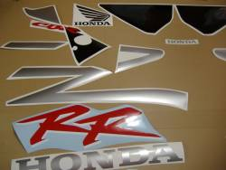Honda 954RR 2002 SC50 silver adhesives set