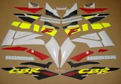 Honda CBR 600F F3 1996 white restoration stickers