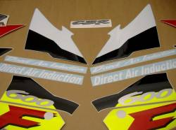 Honda CBR 600 F3 1996 white labels graphics
