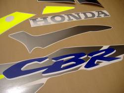 Honda CBR 600 F3 1996 blue stickers kit