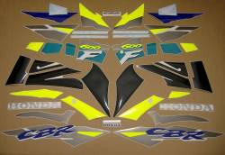 Honda CBR 600F F3 1996 blue decals