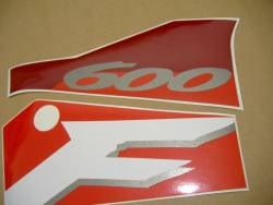 Honda CBR 600F F3 1996 burgundy stickers