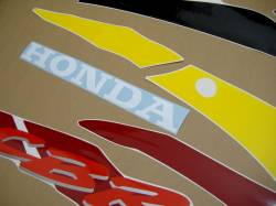 Honda 600 F3 1996 burgundy stickers set