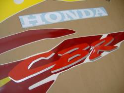 Honda CBR 600 F3 1996 burgundy decals kit