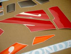 Honda 600 F3 1995 red full decals kit