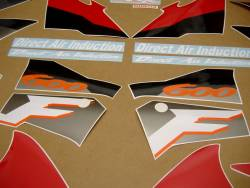 Honda CBR 600 F3 1995 red labels graphics