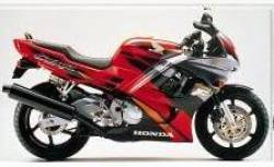 Honda 600f f3 1995 red grey restoration decals