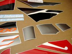 Honda cbr 600 f3 1995 red black grey sticker set