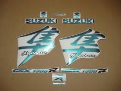 Suzuki Hayabusa 1999 chameleon blue stickers kit