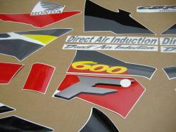 Honda 600 F3 1995 grey full decals kit