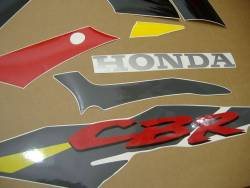 Honda 600f3 1995 grey red yellow stickers set