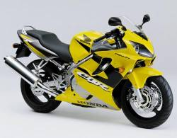 Honda 600 F4 2001 yellow full decals kit