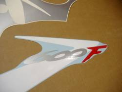 Honda cbr 600 f4 2001 red blue decals set