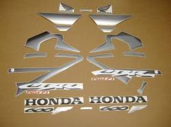 Honda 600 F4 2005 titanium silver full stickers kit