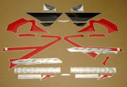Honda CBR 600 F4 2006 red stickers kit