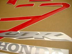 Honda CBR 600 F4 2006 red decals kit