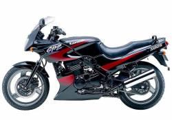 Kawasaki 500S 2001 Ninja black decals