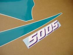 Kawasaki 500S 2000 Ninja black logo graphics
